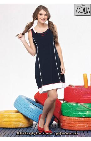 Aqua bayan kolsuz kalın askılı spor elbise 141120