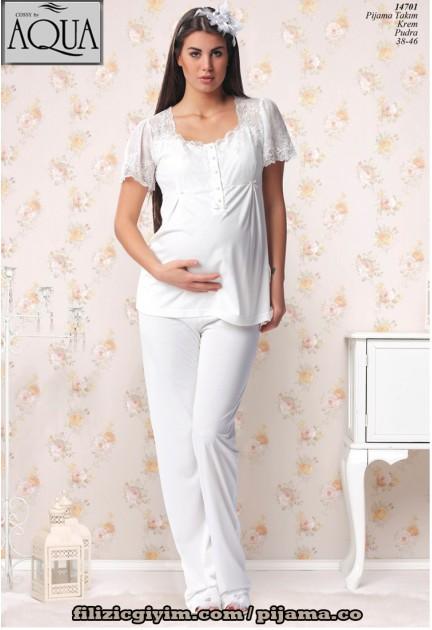 Aqua lohusa pijama takım dantelli 14701