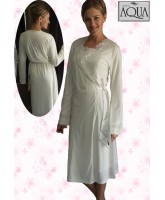 Aqua lohusa dantel pijama gecelik sabahlık set