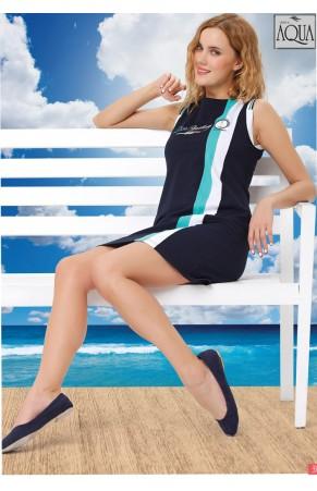 Aqua bayan kalın askılı plaj mini elbise 151019