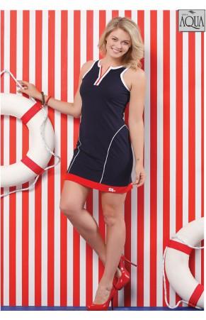 Aqua bayan kalın askılı plaj mini elbise 151020