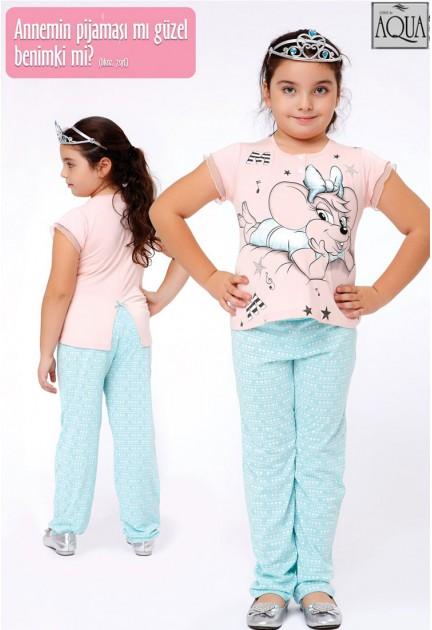 Aqua kız çocuk pijama takımı 15682