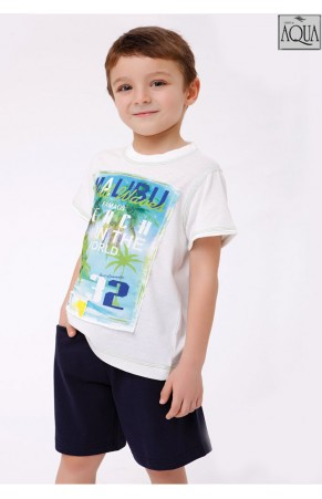 Aqua erkek çocuk şort takım 15691