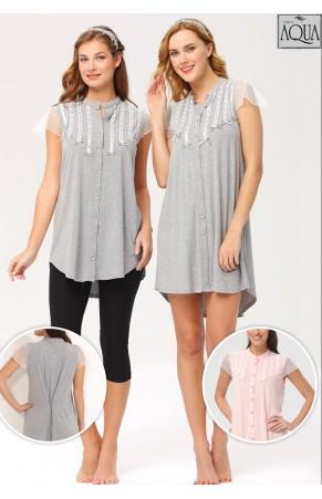 Aqua bayan düşük kol mini elbise 15734