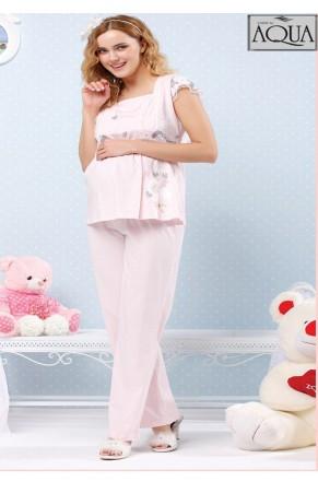 Aqua lohusa düşük kol baskılı pijama takım 15861