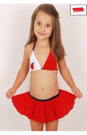 Kom kız çocuk etekli bikini bug