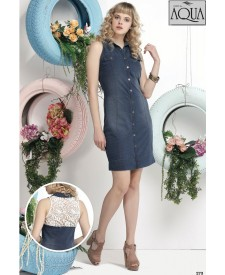 Aqua dantelli kot elbise 171121