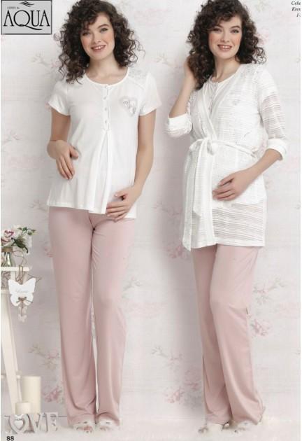 Aqua lohusa pijama sabahlık takımı 17681-1783