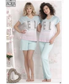 Aqua bayan v yaka pijama takımı 17702