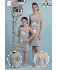 Aqua askılı  gecelik elbise 17739