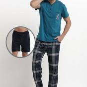 Kısakol Pijama-3' lü Pijama Takımlar