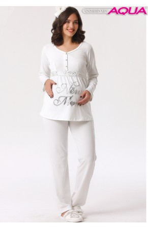 Aqua baskılı lohusa pijama takımı 18018