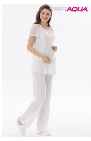 Aqua lohusa tül dantel pijama takımı 18513